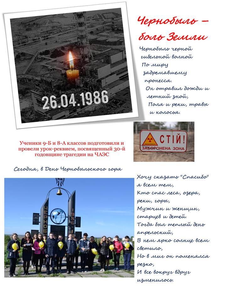 Чернобыль – боль Земли