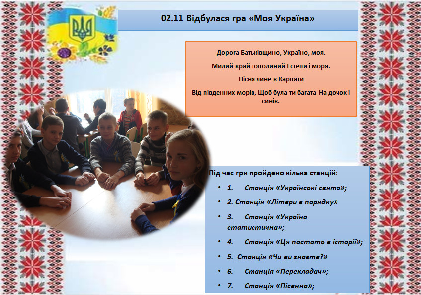 Гра «Моя Україна»
