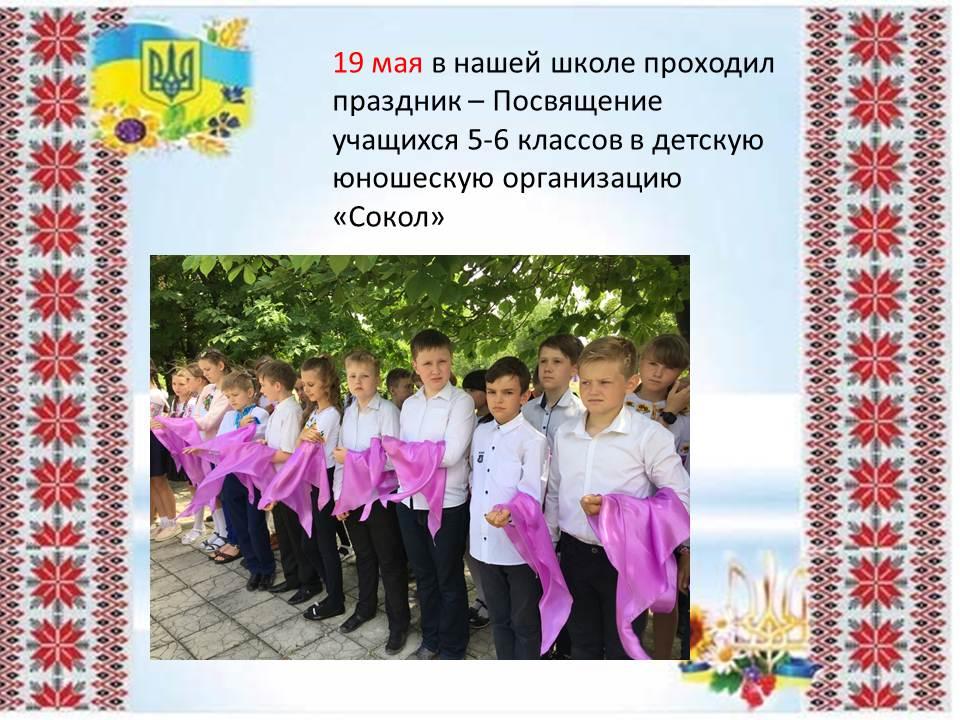 Посвящение учащихся в детскую юношескую организацию «Сокол»