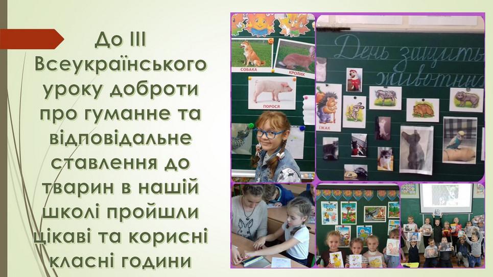 Всеукраїнський урок доброти