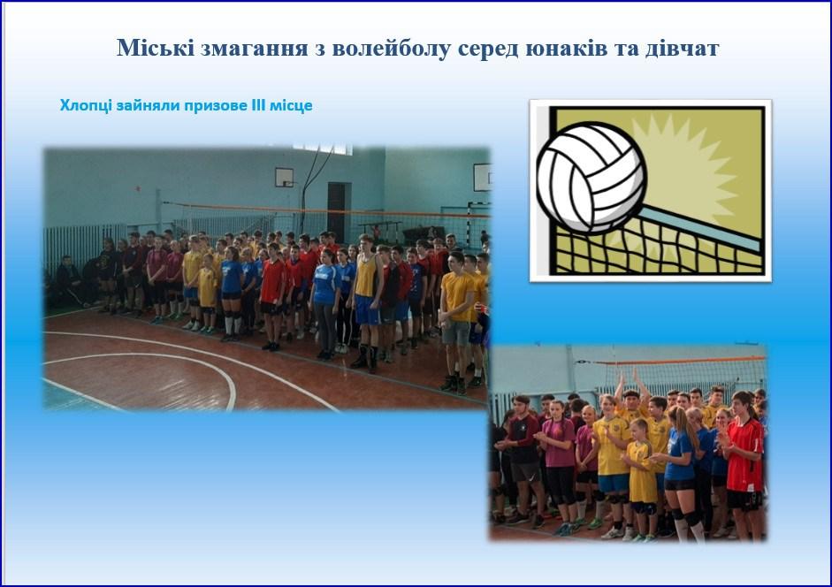Міські змагання з волейболу серед юнаків та дівчат